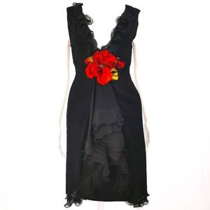 Moschino Vintage Couture Ruffle Dress